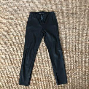 Zara Basic Crop Leather Pants - Size M